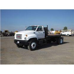 1997 GMC C6500 S/A Flat Bed Dump Truck