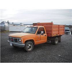 1991 GMC 3500 Sierra SL S/A Debris Dump Truck