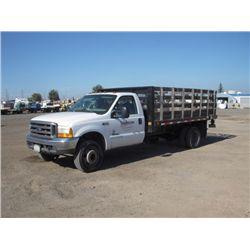 2000 Ford F550 XL Super Duty S/A Flat Bed Truck