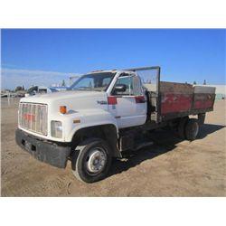1992 GMC Top Kick 2500 S/A Flat Bed Truck