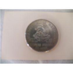 1952 Cinco Pesos Mexico Cinco Peso1952  /Silver >720 High Grade