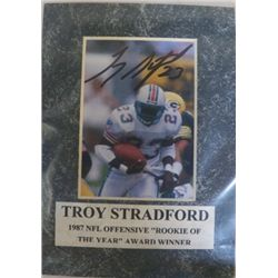 Troy Stradford Autographed Mat With Certificate of Authenticity