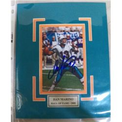 Dan Marino Autographed Mat With Certificate of Authenticity