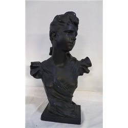 """Large Bust Chalk of Women approx 14"""" x H 23""""  has some small miner chips"""