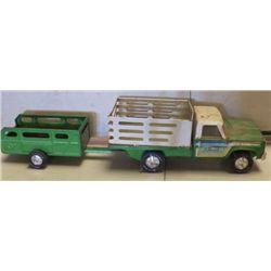 Nylint Truck & Trailer Green & White