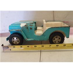 """Tonka Jeep Blue Metal approx 10"""" x 5"""" x H 3.5"""