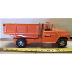 Buddy L Dump Truck Metal Orange approx. 14  x 5.5 xH 5.5