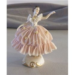 """Porcelain Ballerina Figurine Marked Germany approx 4"""" x H"""" no chips or cracks"""