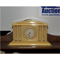 """1930's  Bakelite Alarm Clock made Like Court House approx 8"""" x 4 x H 8"""" Made in Germany and works gr"""