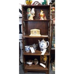 """5 Tier Vintage Wood Shelf approx 18"""" x H 54"""" condition is good"""