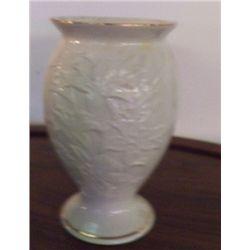 "Lenox Floral Vase Gold Trim approx 5"" x H8"" no chips - no cracks"