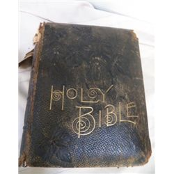 """Holy Bible from 1884 approx 10"""" x 13"""" x 4.5"""""""