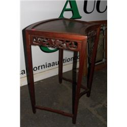 """Wooden Ornate Side Table approx 20"""" x H27"""" condition is very good"""