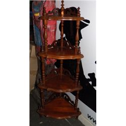 """Wooden Corner Shelf 4 Tier approx 20"""" x H 62"""" condition is very good"""