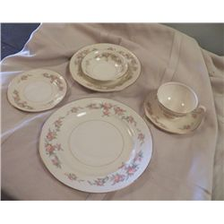 Georgian Eggshell Homer Laughlin China marked 050n5 service for 10 Dinner Plate, bread & butter plat