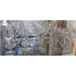 23 pcs Crystal Wine glasses - Cordials 11- cordials-- 13 wine --1 beer- 1- vase