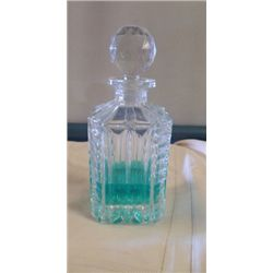 "Crystal Decanter approx 4"" x H 10"""