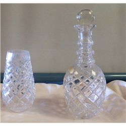 Crystal Decanter & Vase Daimond Shape