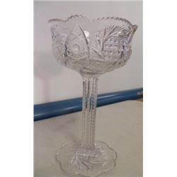 Cut Crystal Vase approx 5' x