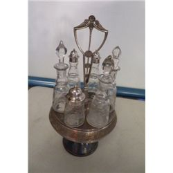 Vintage Vinegar & Oil Cruet Set All with Lids