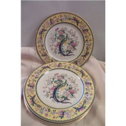 Peacock (4) Collector Plates by Black Knight Selb Bavaria  no chips or cracks