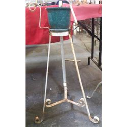 """Wrought Iron Plant Stand Approx 17"""" x 29"""""""