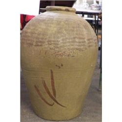 """Large Orential Clay Pot Approx size 14"""" x 20"""" Tall Heavy piece"""