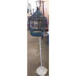 """Birdcage With Stand Yard Art 14""""x53""""approx."""