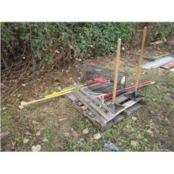 Pallet of Misc Concrete Hand Tools