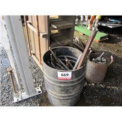 Barrel of Jack Hammer Bits