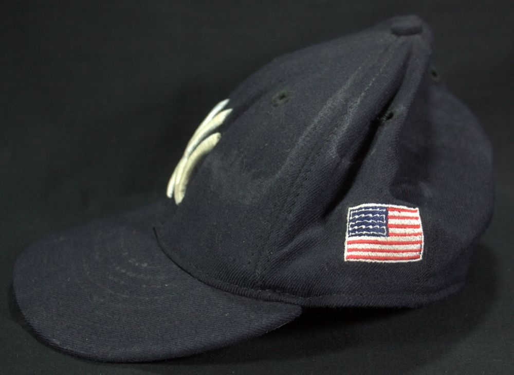 Derek Jeter Game Used 2001 Yankees Hat with 9/11