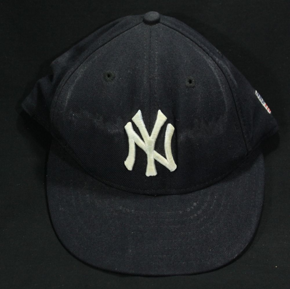 Derek Jeter Game Used 2001 Yankees Hat with 9/11 American