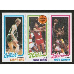 1980 81 Topps 6 34 Larry Bird Rc 174 Julius Erving Tl