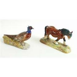 """A ROYAL DOULTON HEAVY HORSE No HN2564, 6.25"""" high £120-170..."""