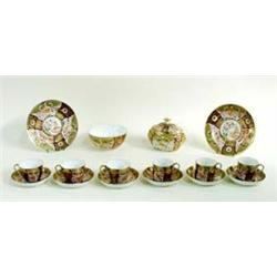 A FINE EARLY 19TH CENTURY COALPORT PART TEA/COFFEE SERVICE comprising nine teacups, five coffee cans