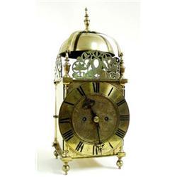A LATE 19TH CENTURY BRASS LANTERN CLOCK by the Goldsmiths & Silversmiths Company, Regent Street, Lon
