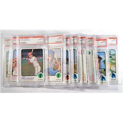 10-1973 TOPPS BASEBALL CARDS ALL PSA MINT 9