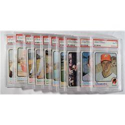 10-1973 TOPPS BASEBALL CARDS PSA MINT 9's