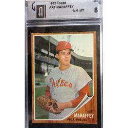 1962 TOPPS #550 ART MAHAFFEY GAI NM-MT 8