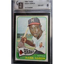 1965 TOPPS #170 HANK AARON GAI NM-MT 8