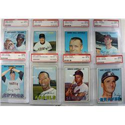 8-1967 TOPPS BASEBALL PSA NM-MT 8's