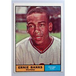 1961 TOPPS BASEBALL #350 ERNIE BANKS EM+