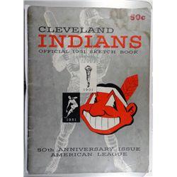 1951 CLEVELAND INDIAN SKETCH BOOK VGEX