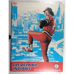 1977 CLEVELAND INDIAN PROGRAM NM