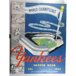 1952 YANKEES SKETCH BOOK EX+