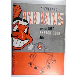 1952 CLEVELAND INDIANS SKETCH BOOK EM