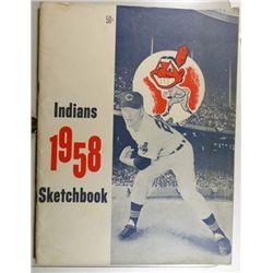1958 CLEVELAND INDIANS SKETCH BOOK EX