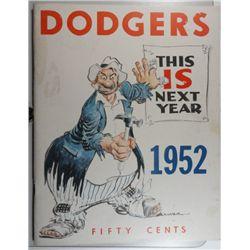 1952 DODGERS YEARBOOK EM+