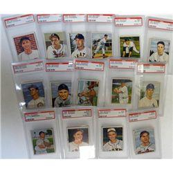 15-1950 BOWMAN BASEBALL PSA GRADED CARDS