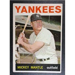 1964 TOPPS #50 MICKEY MANTLE LIGHT BORDER CREASE